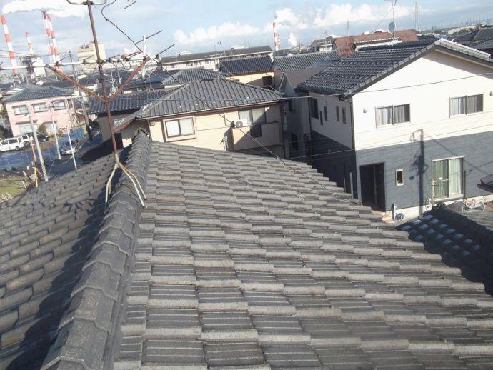 セメント瓦(S型)~軽量屋根材シングルに葺き替え!